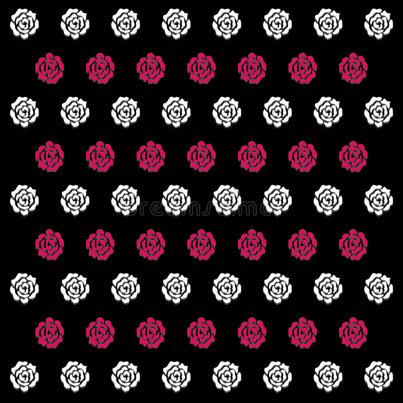 El icono blanco y rosado de Rose Pattern Background grande para ningunos utiliza Vector eps10 libre illustration