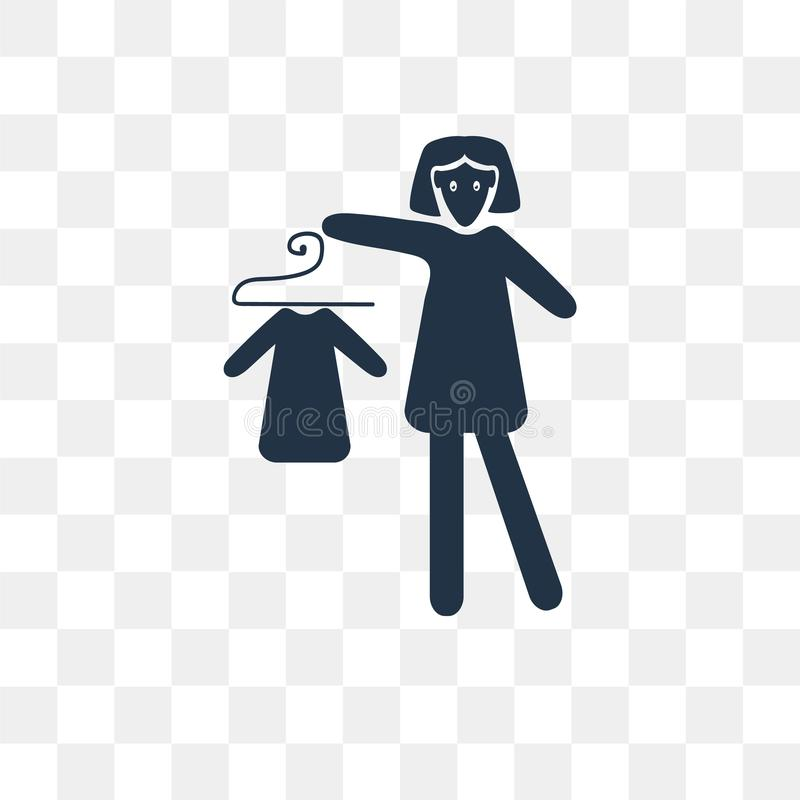 El icono de compra del vector del vestido aislado en fondo transparente, compra libre illustration