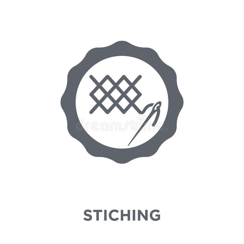 El icono de costura de cose la colección stock de ilustración