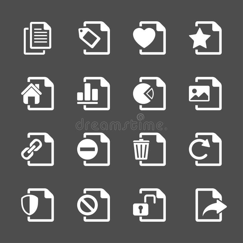 El icono de documento del fichero fijó 2, vector eps10 stock de ilustración