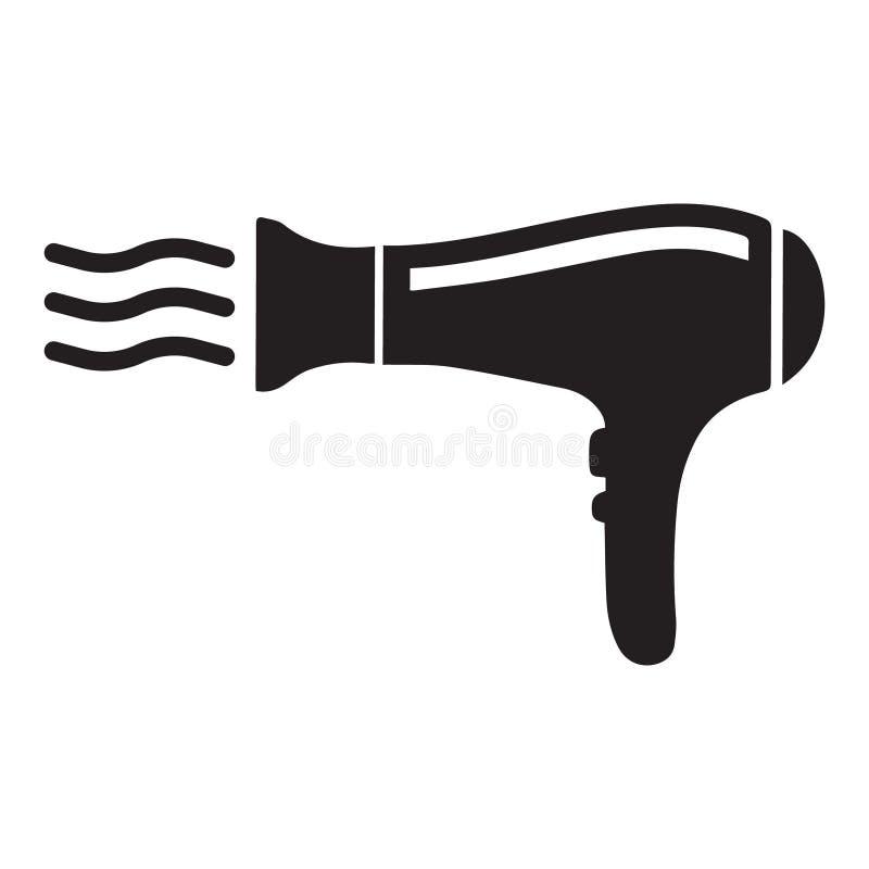 El icono de Hairdryer, icono negro del vector aisló libre illustration