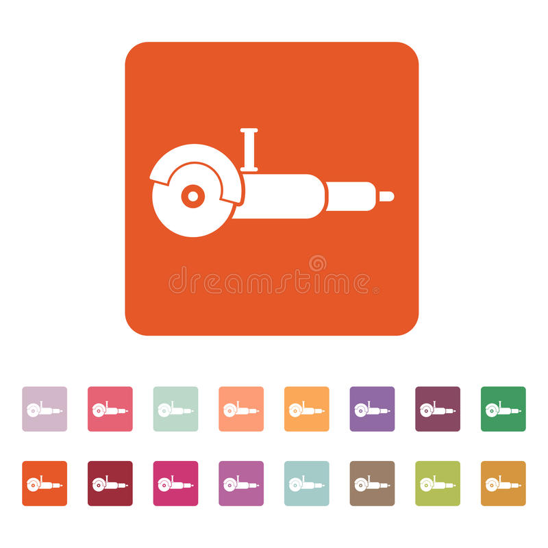 El icono de la amoladora Símbolo de la amoladora plano libre illustration