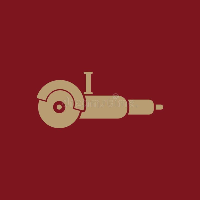El icono de la amoladora Símbolo de la amoladora plano ilustración del vector