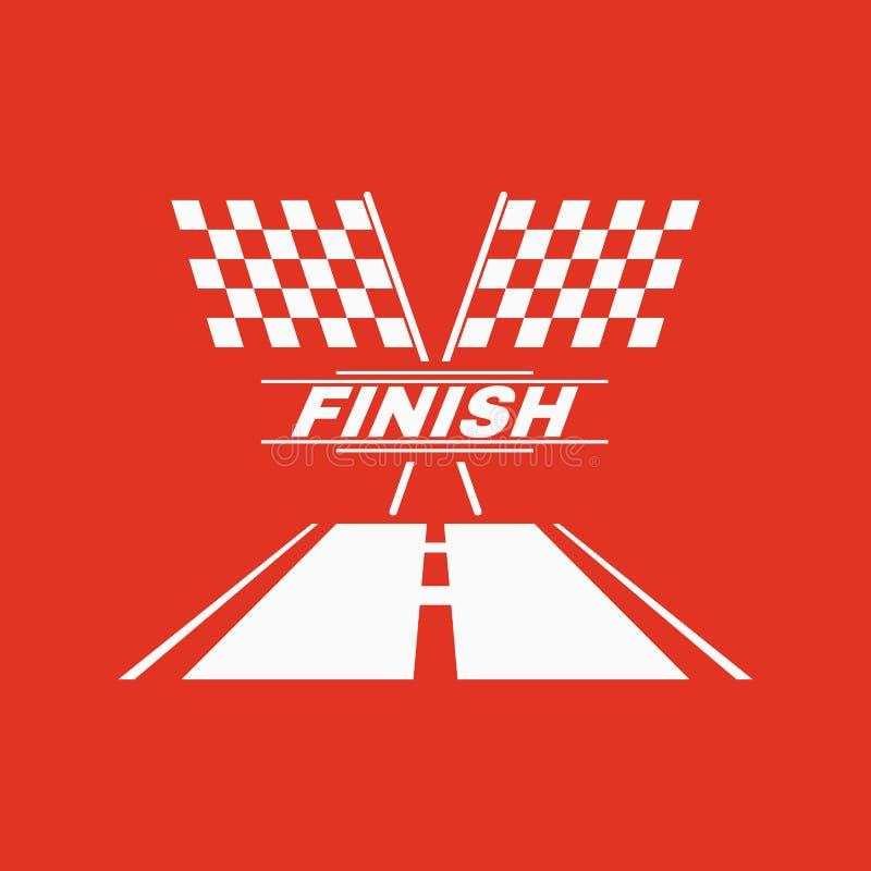 El icono de la bandera de la raza Símbolo del final plano libre illustration