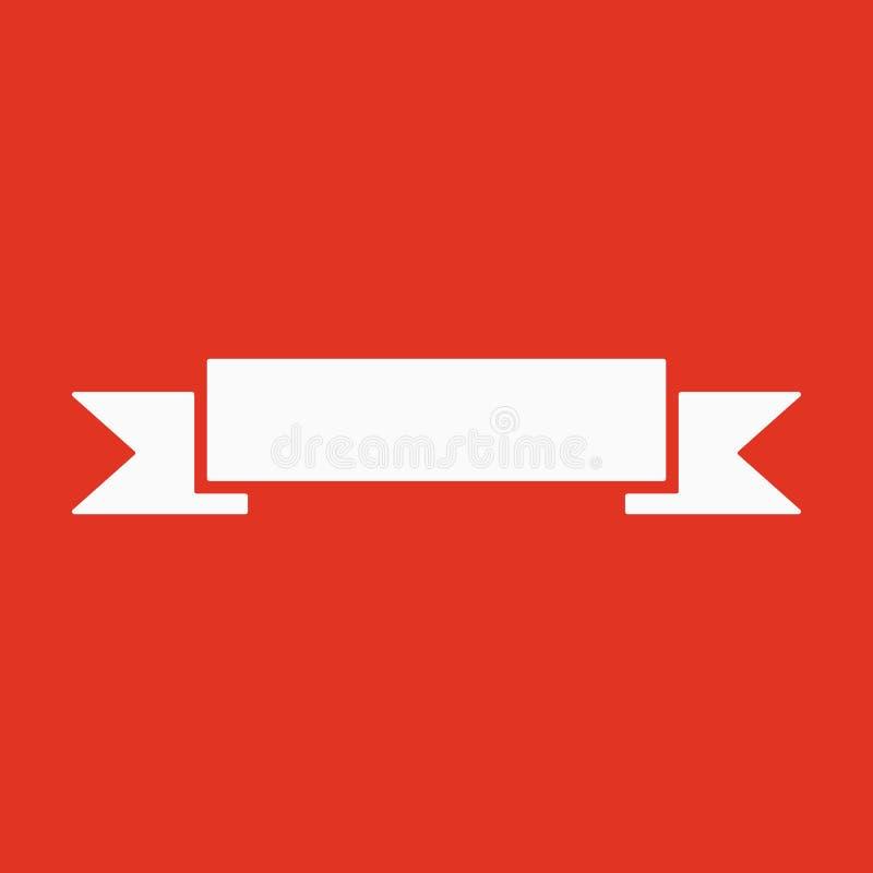 El icono de la bandera Símbolo de la cinta plano stock de ilustración