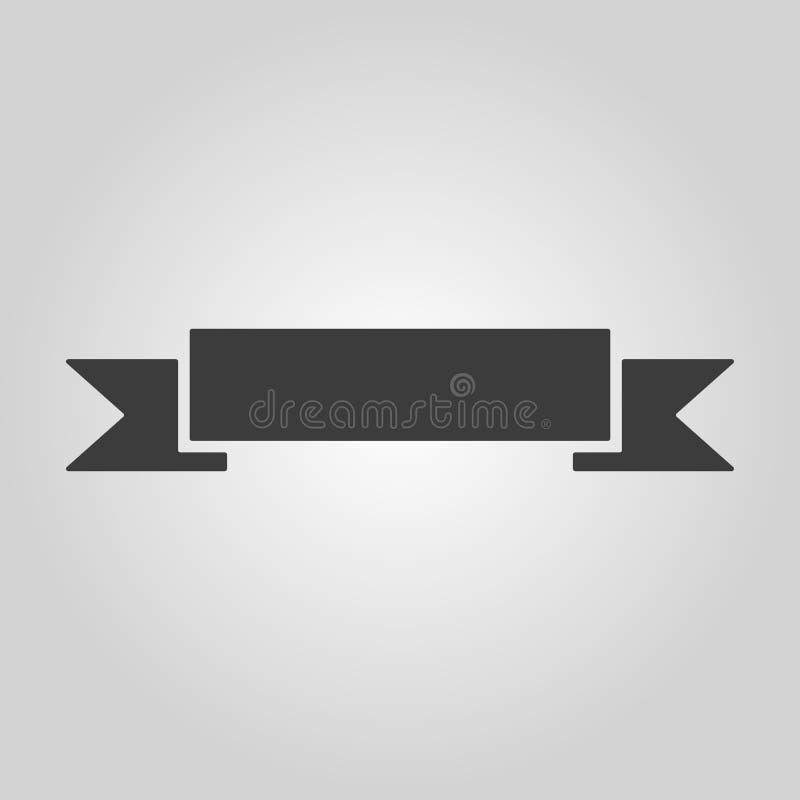 El icono de la bandera Símbolo de la cinta plano libre illustration