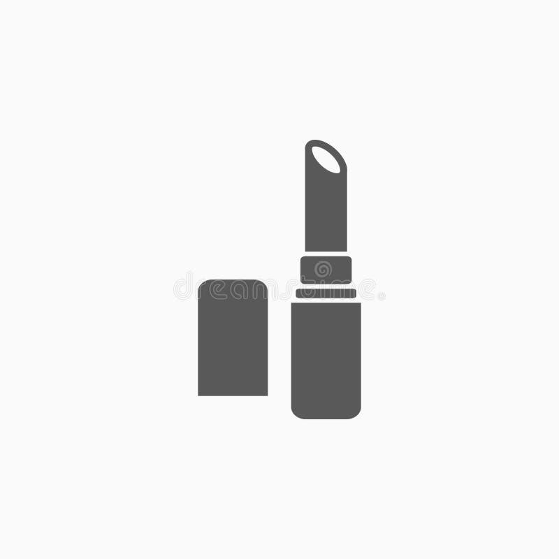 El icono de la barra de labios, cosmético, compone, belleza ilustración del vector