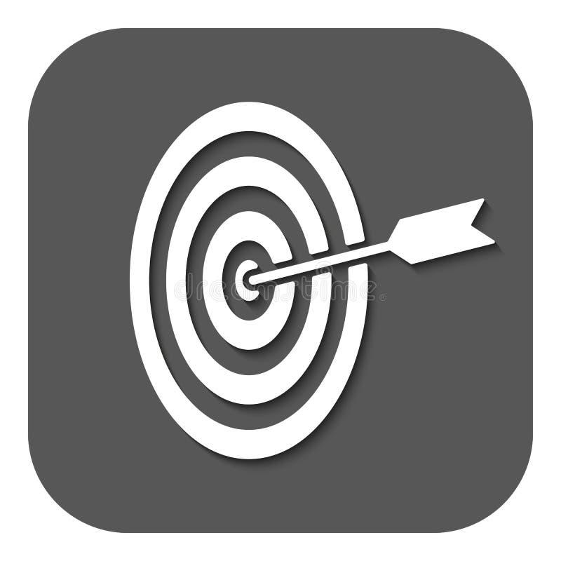 El icono de la blanco Símbolo de la blanco plano libre illustration