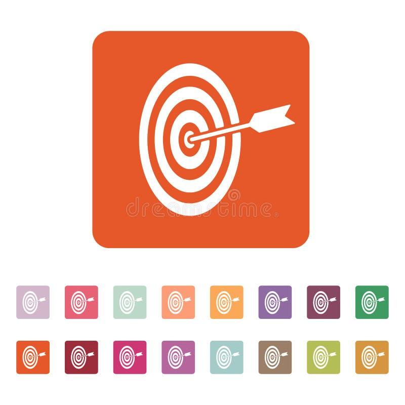El icono de la blanco Símbolo de la blanco plano ilustración del vector