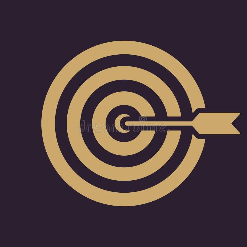 El icono de la blanco Símbolo de la blanco plano stock de ilustración