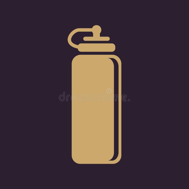 El icono de la botella de agua de los deportes Símbolo de la botella plano libre illustration