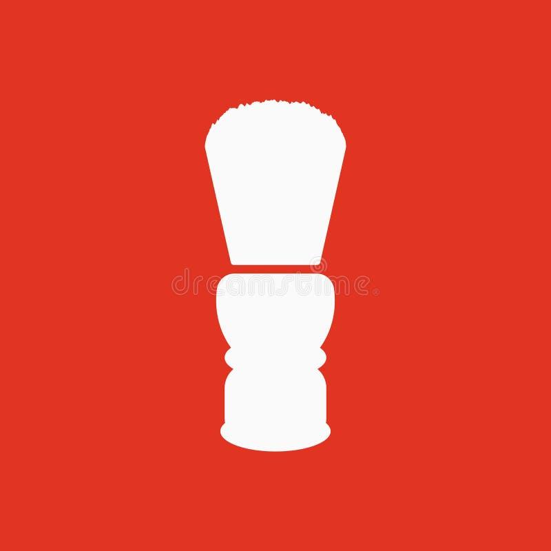 El icono de la brocha de afeitar Símbolo de la máquina de afeitar plano ilustración del vector