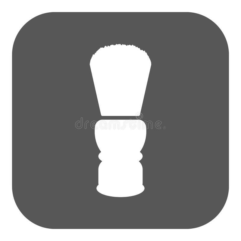 El icono de la brocha de afeitar Símbolo de la máquina de afeitar plano libre illustration