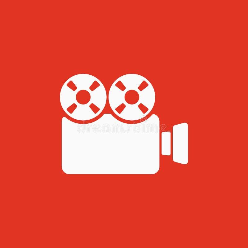 El icono de la cámara de vídeo Símbolo de la videocámara plano ilustración del vector