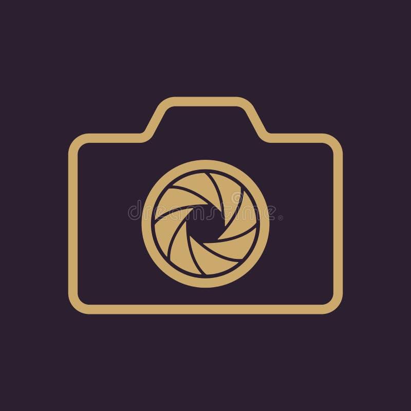 El icono de la cámara Símbolo de la foto plano stock de ilustración