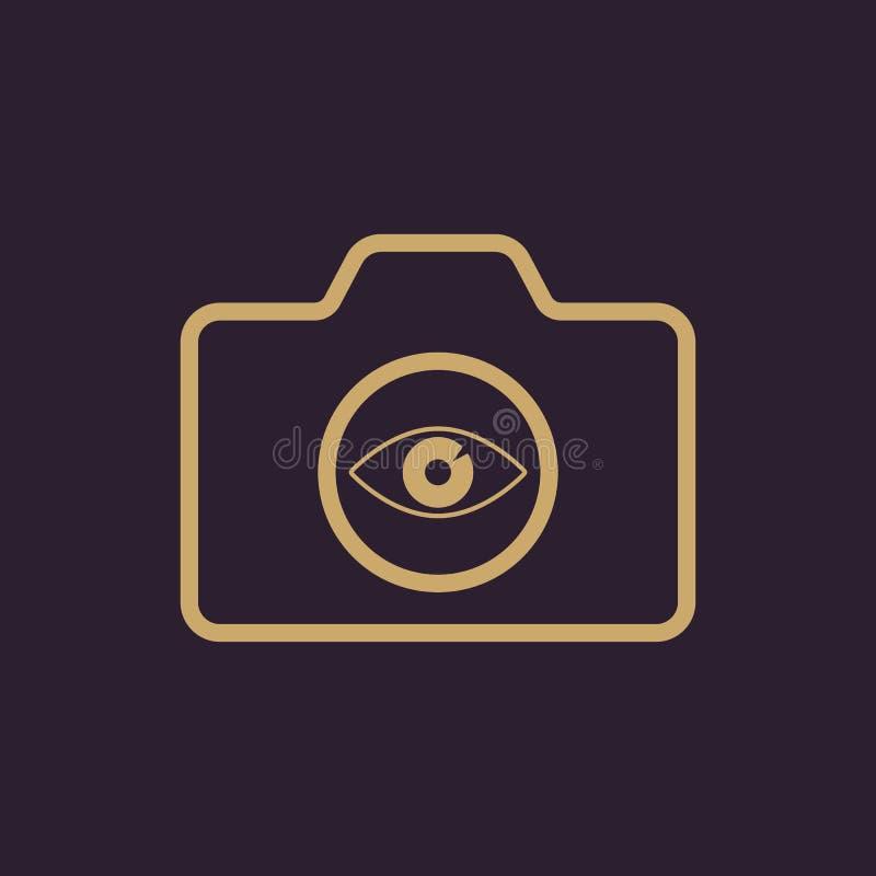 El icono de la cámara Símbolo de la foto plano ilustración del vector