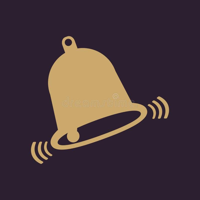 El icono de la campana Símbolo alerta plano libre illustration