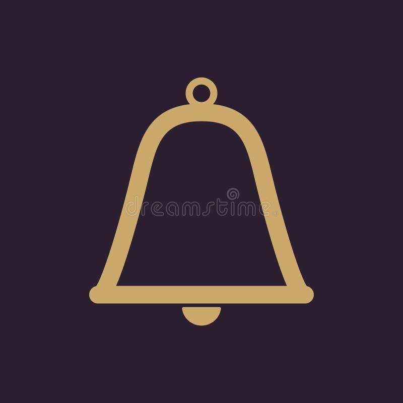 El icono de la campana Símbolo alerta plano stock de ilustración