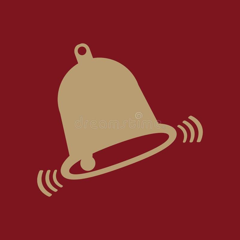 El icono de la campana Símbolo alerta plano ilustración del vector