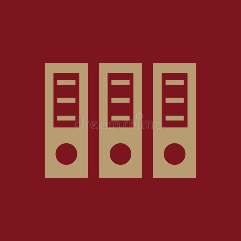 El icono de la carpeta del archivo Documento y datos, cartera, símbolo de la oficina plano libre illustration