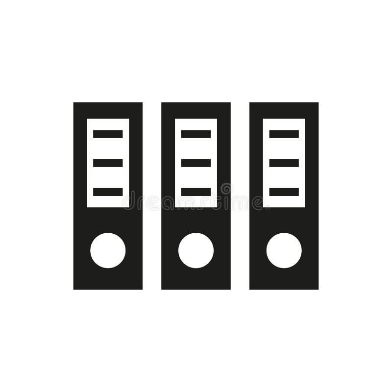 El icono de la carpeta del archivo Documento y datos, cartera, símbolo de la oficina plano ilustración del vector