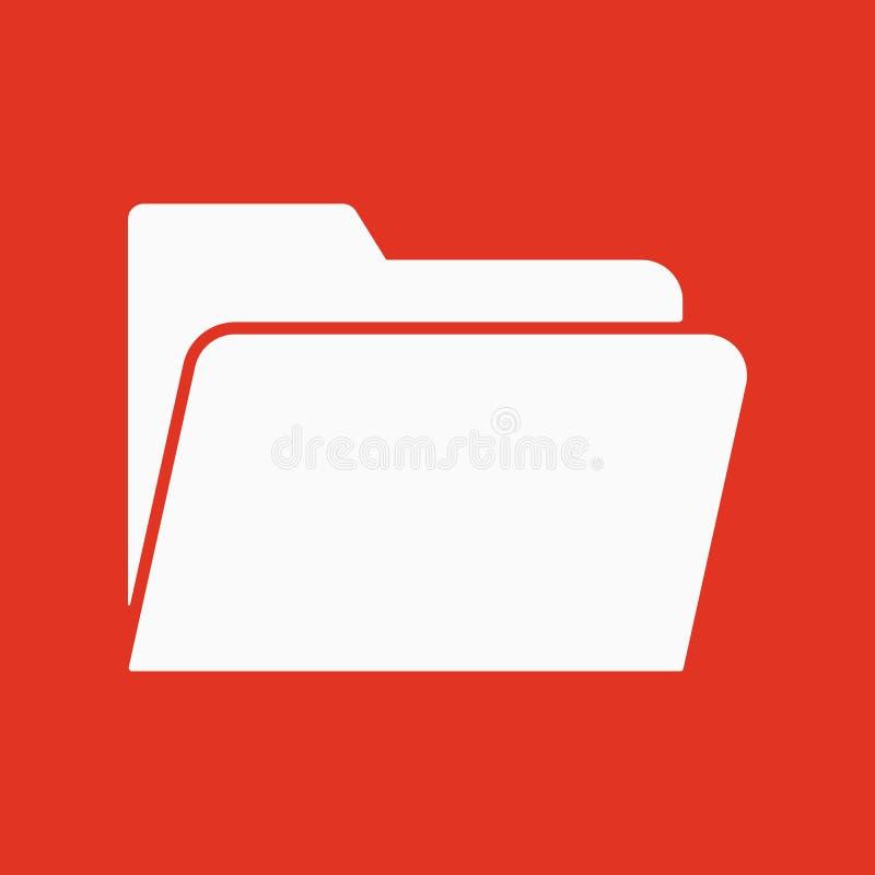 El icono de la carpeta Símbolo del fichero plano stock de ilustración