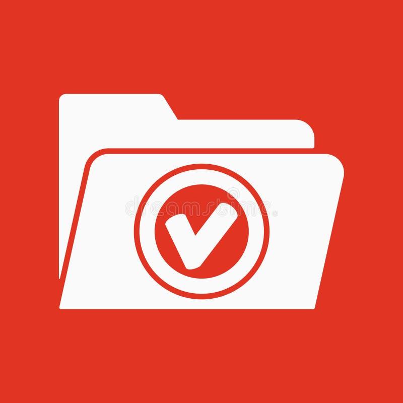 El icono de la carpeta Símbolo del fichero plano ilustración del vector
