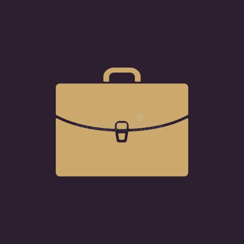 El icono de la cartera Símbolo de la cartera plano stock de ilustración
