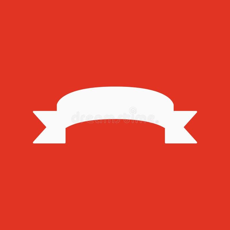 El icono de la cinta Símbolo de la bandera plano stock de ilustración