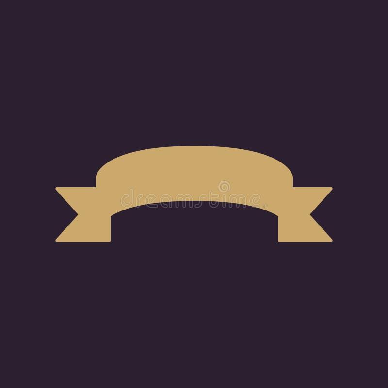 El icono de la cinta Símbolo de la bandera plano libre illustration