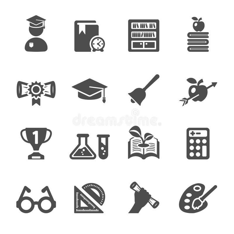 El icono de la educación fijó 2, vector eps10 stock de ilustración