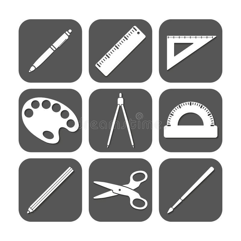 El icono de la escuela stock de ilustración