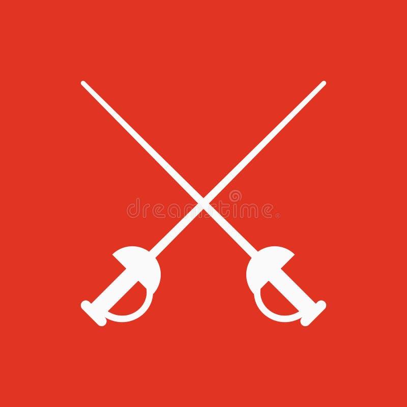 El icono de la espada Símbolo de la espada plano libre illustration