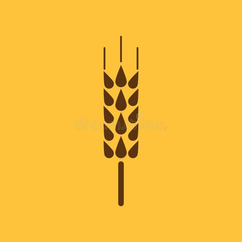 El icono de la espiga Símbolo del trigo plano libre illustration