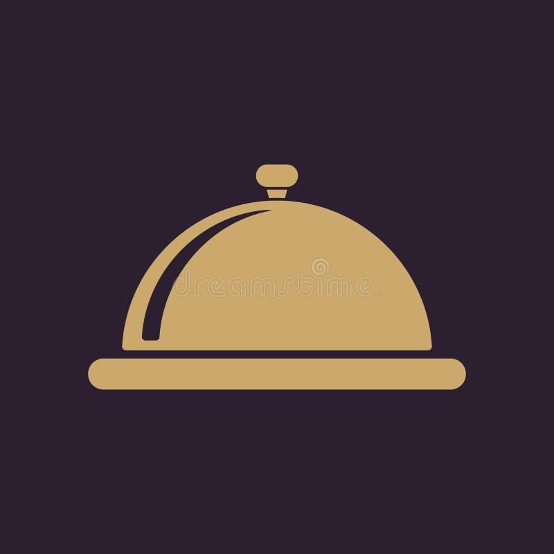 El icono de la estación de la bandeja Desayuno y almuerzo, cena, símbolo del restaurante plano libre illustration