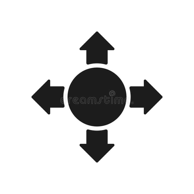 El icono de la flecha Símbolo de la búsqueda plano ilustración del vector