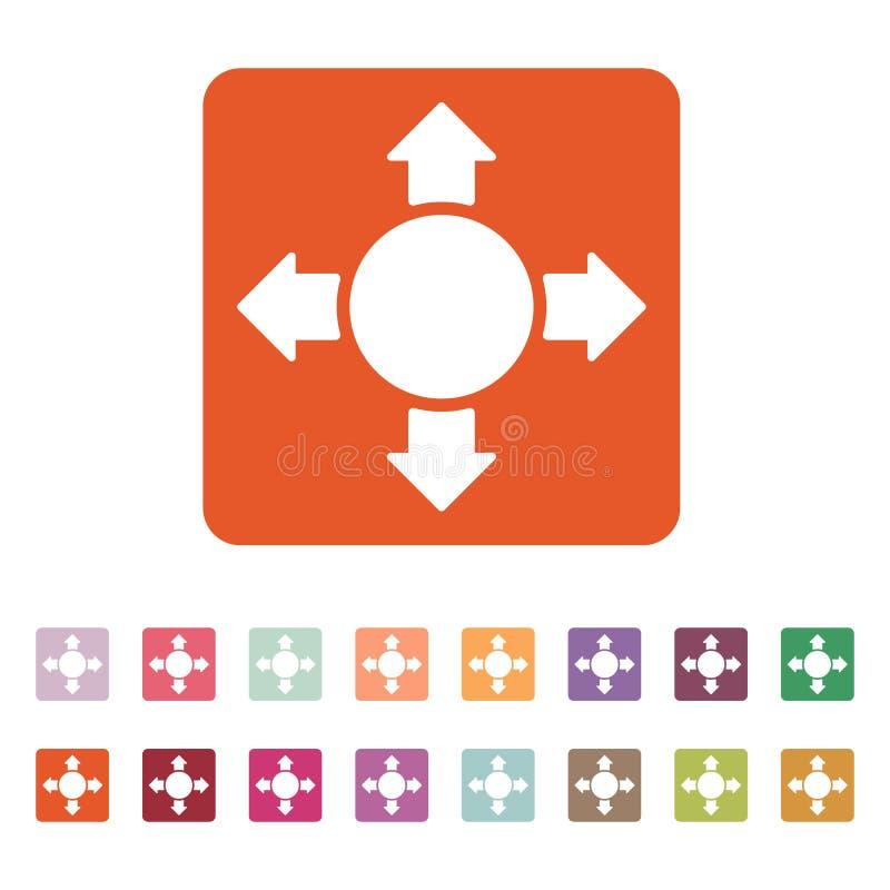 El icono de la flecha Símbolo de la búsqueda plano libre illustration
