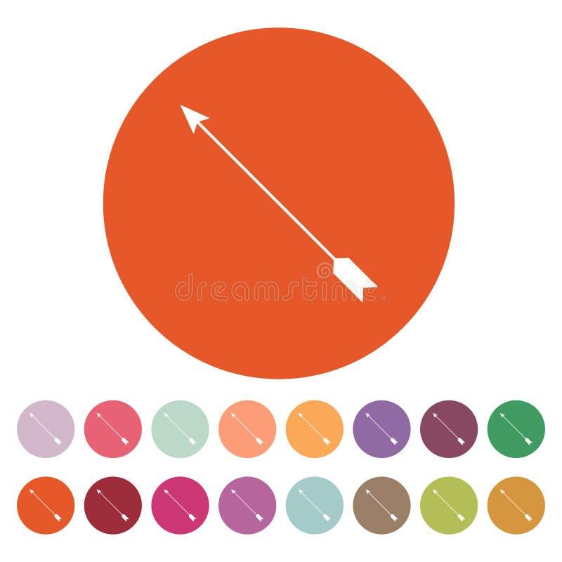 El icono de la flecha Símbolo de la flecha plano stock de ilustración