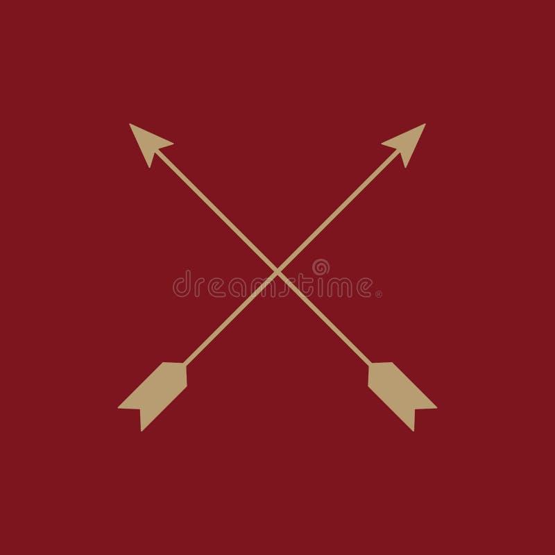 El icono de la flecha Símbolo de las flechas plano ilustración del vector