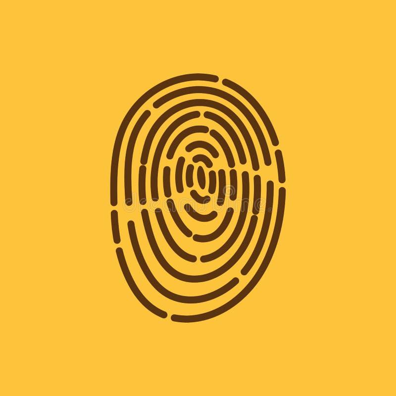 El icono de la huella dactilar Símbolo de la identificación plano stock de ilustración