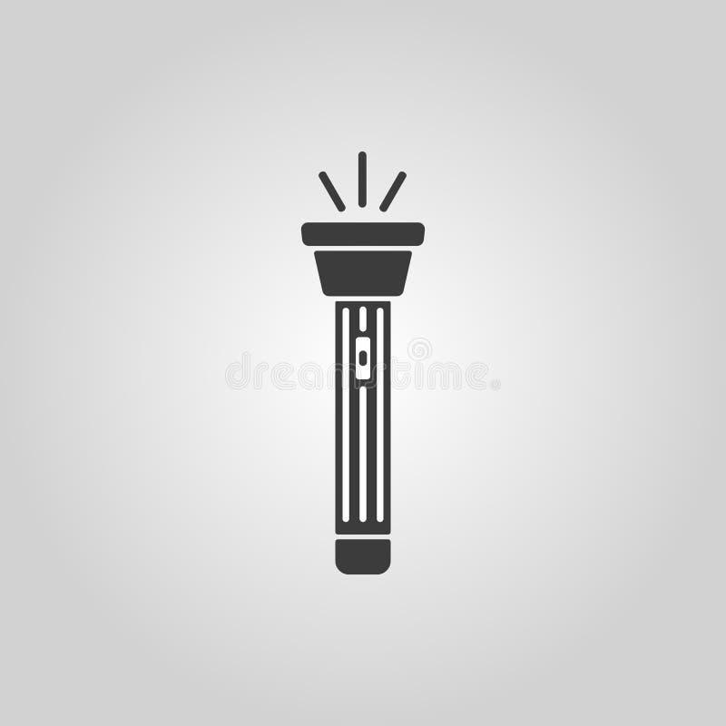 El icono de la linterna Símbolo de la antorcha plano ilustración del vector