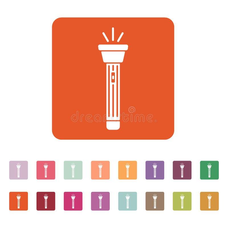 El icono de la linterna Símbolo de la antorcha plano libre illustration