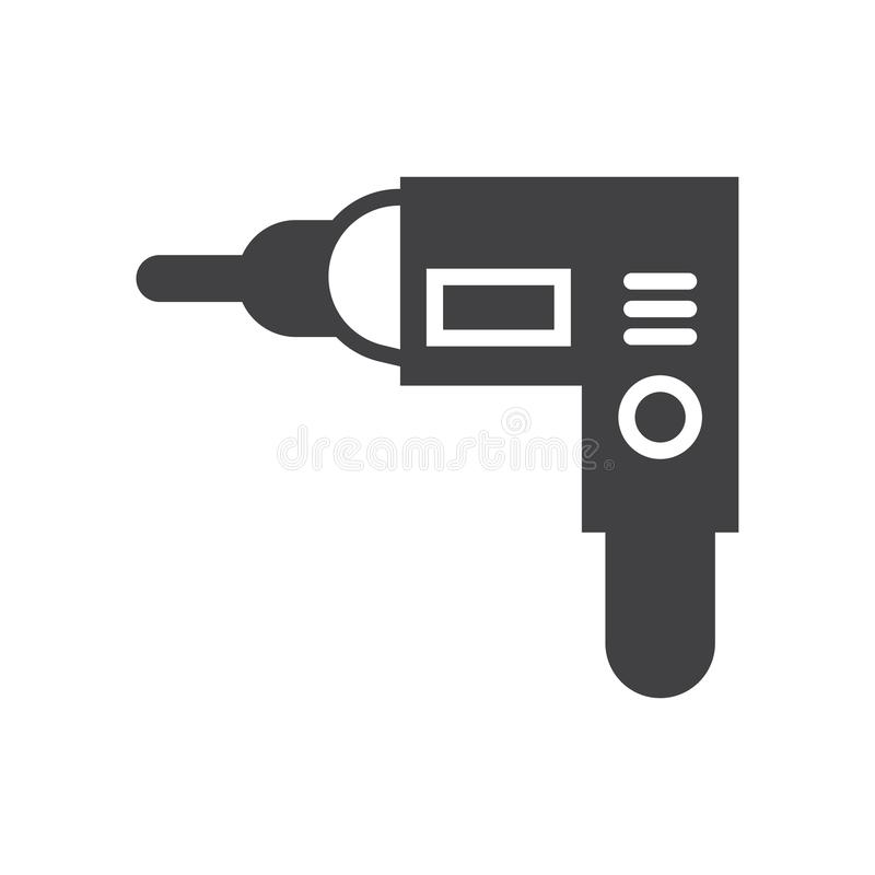 El icono de la máquina del taladro canta símbolo libre illustration