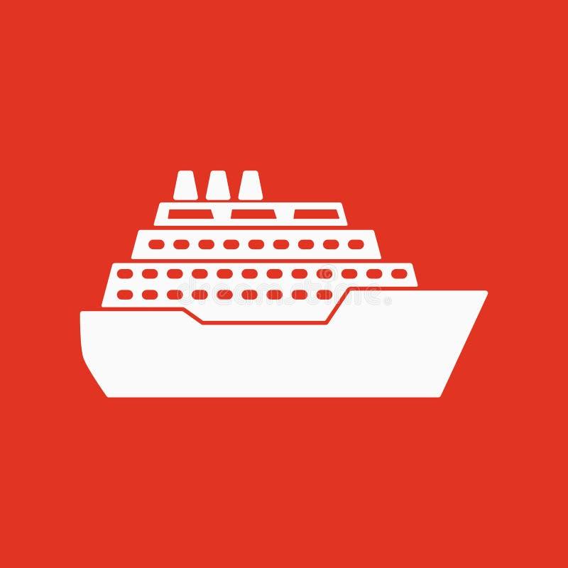 El icono de la nave Símbolo del viaje plano libre illustration