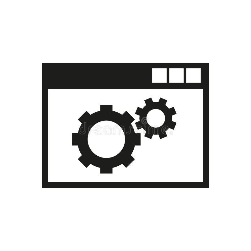 El icono de la optimización del sitio web WWW y navegador, desarrollo, símbolo del seo Ui web LOGOTIPO muestra Diseño plano app libre illustration