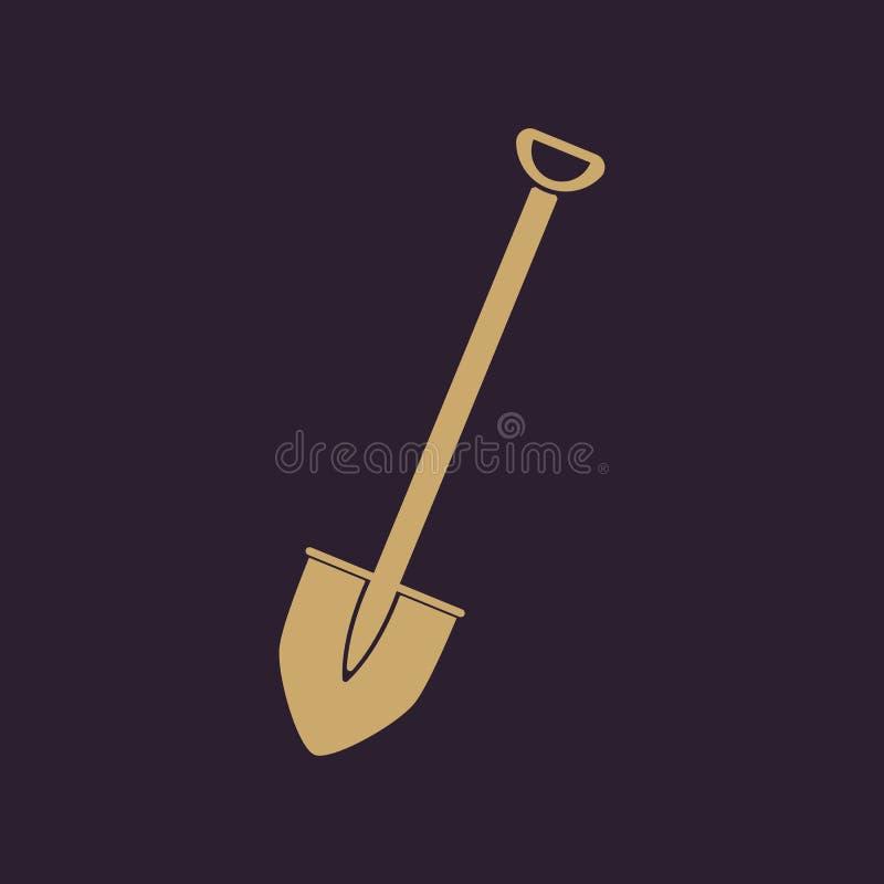 El icono de la pala Símbolo de la espada plano libre illustration