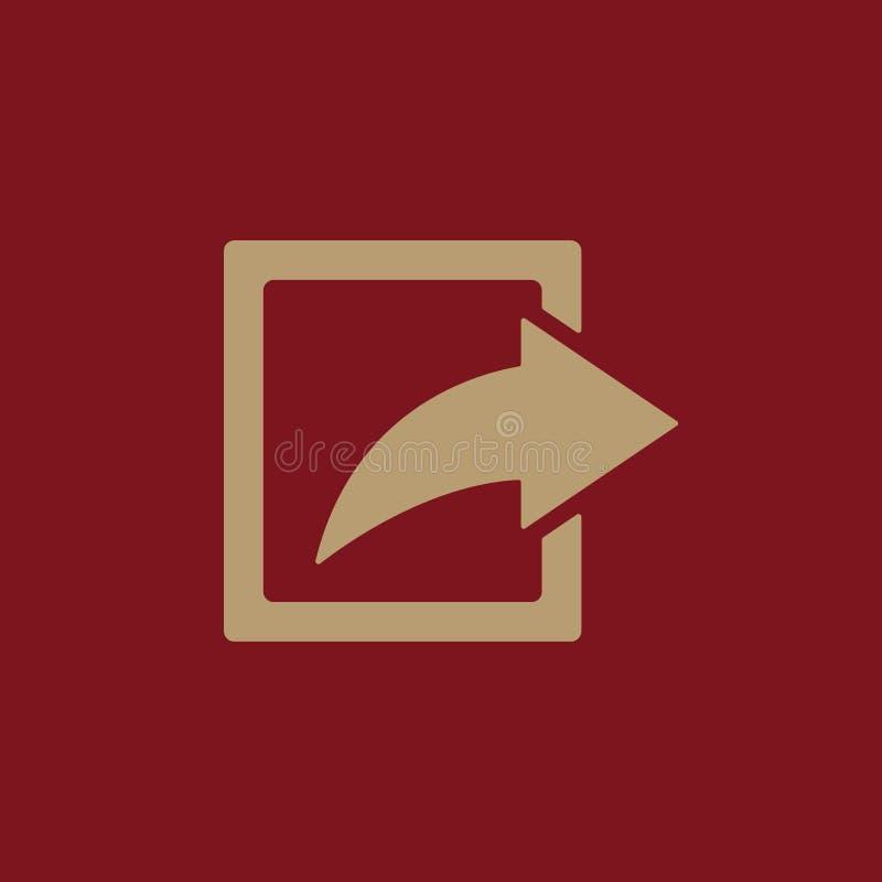 El icono de la parte Símbolo de la acción plano libre illustration