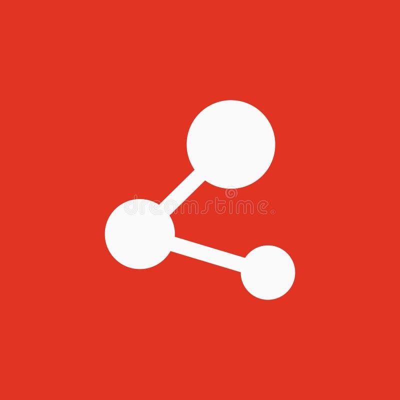 El icono de la parte Símbolo de la red plano stock de ilustración