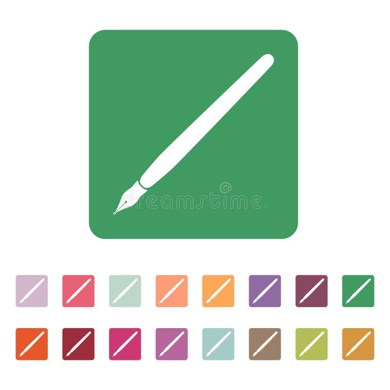 El icono de la pluma libre illustration