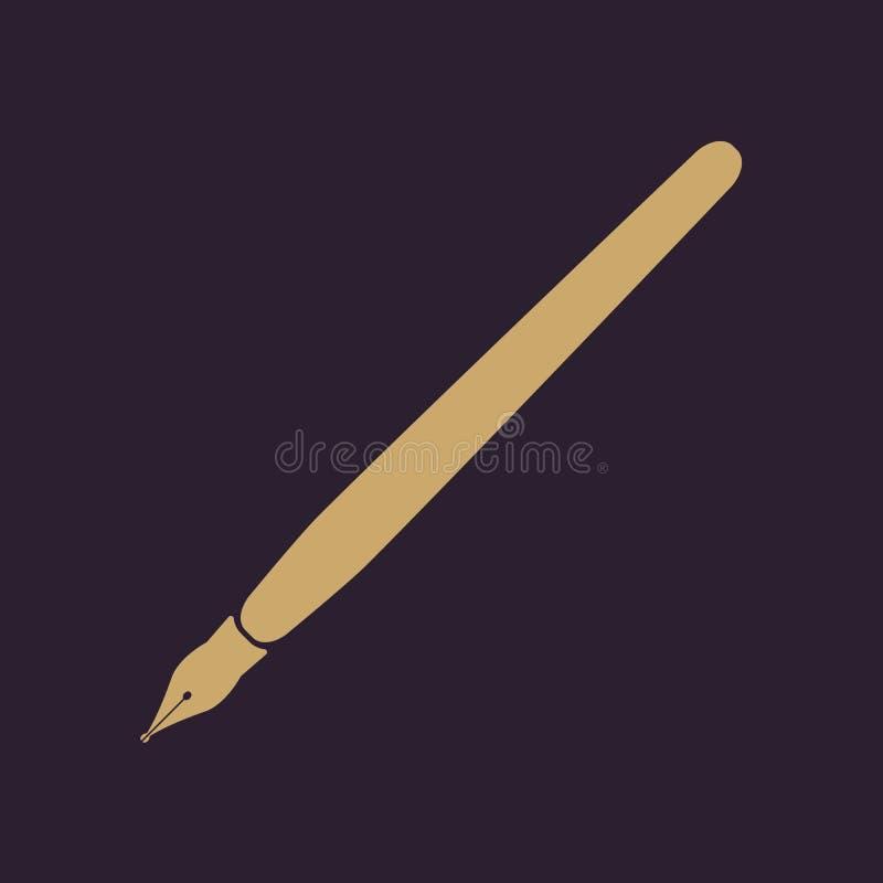 El icono de la pluma stock de ilustración